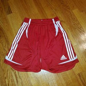 ADIDAS Boys Size Medium Red Athletic Shorts